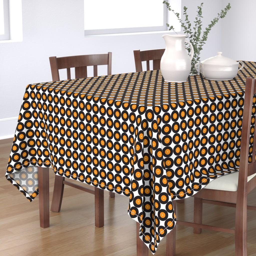 Bantam Rectangular Tablecloth featuring Retro Vinyl 50s Music Band _Miss Chiff Designs by misschiffdesigns