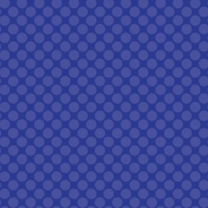 Blue on Royal Navy Blue Purple Polka Dot Spots Drops Water Ocean _Miss Chiff Designs