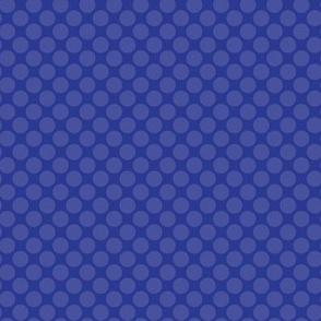 Blue on Royal Navy Blue Purple Polka Dot Spots Drops Water Ocean _Miss Chiff Designs