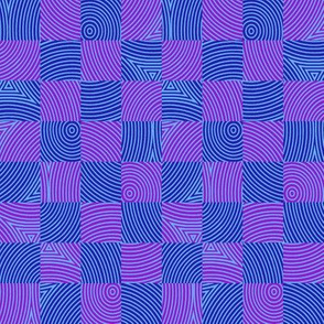circle checker in Bob's purple and blue