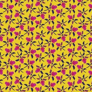 16-16AJ Floral Ditsy Yellow English Garden England Pink Purple_Miss Chiff Designs