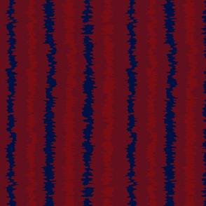 Red Indigo Blue Ikat Stripes