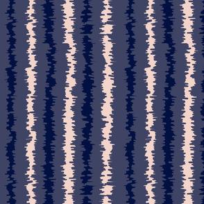 Indigo Blue Pink Ikat Stripes