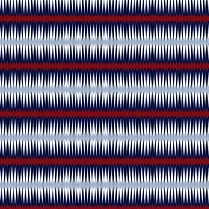 Red Indigo Blue Diamond stripes
