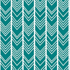 Teal Chevron - Herringbone