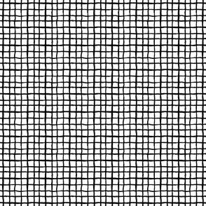 black and white grid simple painted lines small mini version