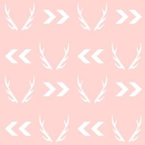 antler antlers pastel pink baby girl nursery deer antlers chevron pink chevron