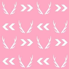 antlers pink girls sweet deer antler baby girl sweet nursery