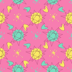 Atomic Shapes-Pink