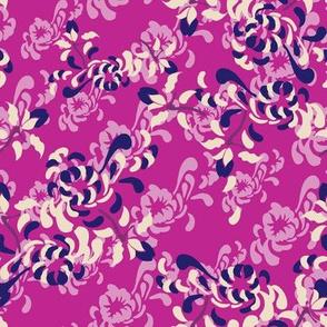 17-03K Kabuki Large Floral Pink_Miss Chiff Designs