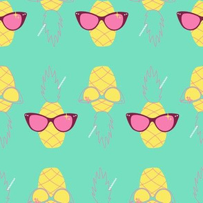 Sunnies and Pineapples-mint