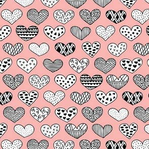 Geometric texture hearts love valentine wedding theme scandinavian style pastel pink