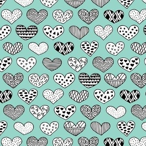 Geometric texture hearts love valentine wedding theme scandinavian style mint