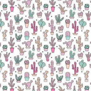 Cactus garden botanical succulent summer pastel pop pattern illustration print XS