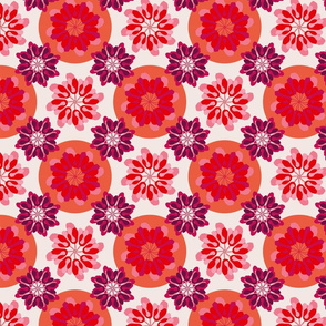 Samaras whirls (red + pink)