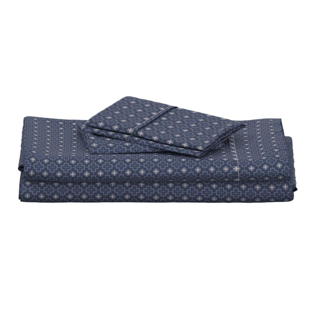 Langshan Full Bed Set featuring Plus Gray Geometric Grey by magentarosedesigns
