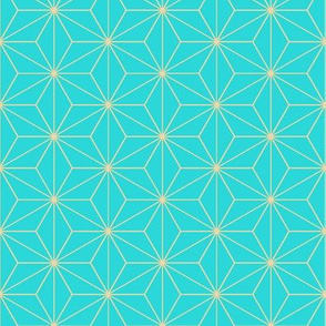 Japanese Pattern (Turquoise Stars)