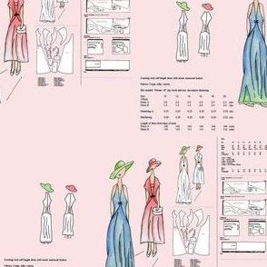Paper Pattern Design - Pink Background