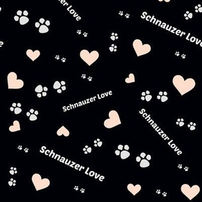 Schnauzer Dog love pawprints