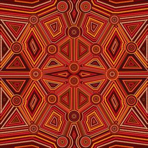 Australian Aboriginal Art Inspired Ginger