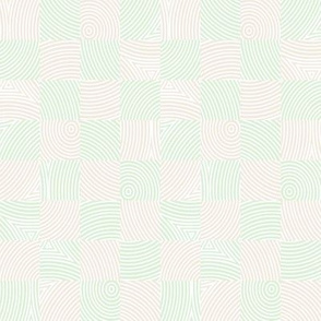 circle checker in cream and cucumber