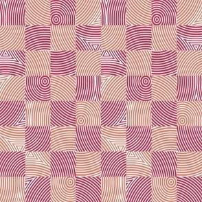 soft red circle checker