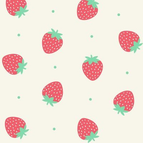 Strawberries - off white