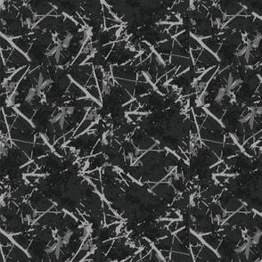 Cherry Blossom Branches - black inverse