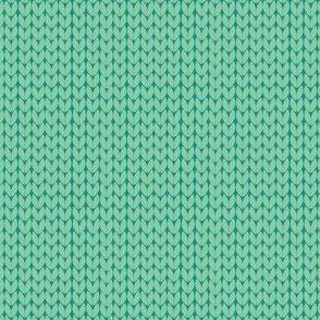 green stockinette