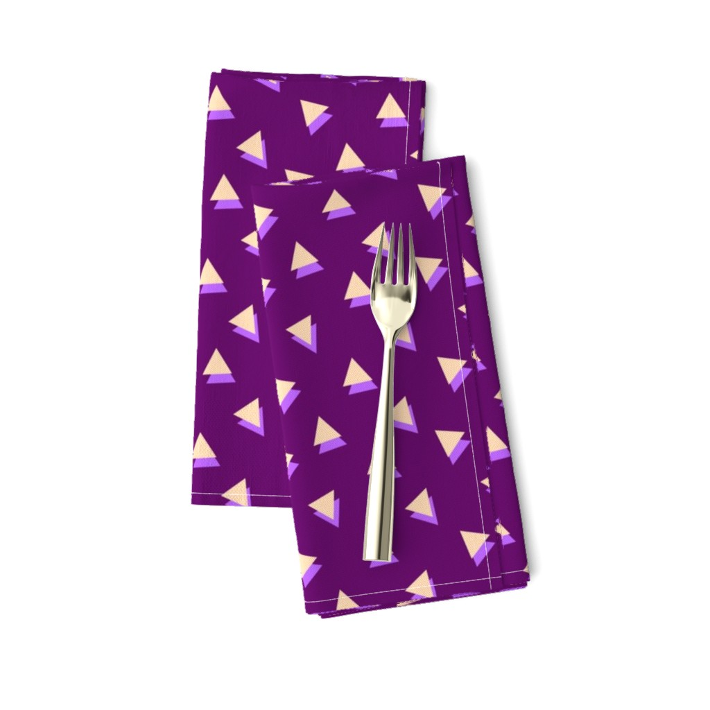 Amarela Dinner Napkins featuring Lavender Triangles Shadows by Cheerful Madness!! by cheerfulmadness_cartoons