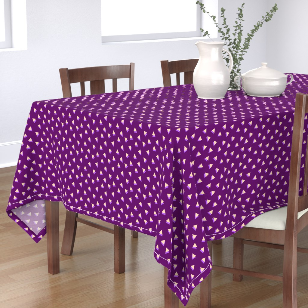 Bantam Rectangular Tablecloth featuring Lavender Triangles Shadows by Cheerful Madness!! by cheerfulmadness_cartoons
