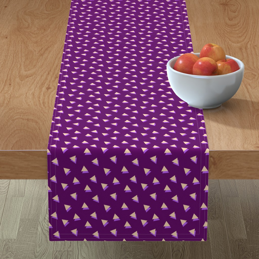Minorca Table Runner featuring Lavender Triangles Shadows by Cheerful Madness!! by cheerfulmadness_cartoons