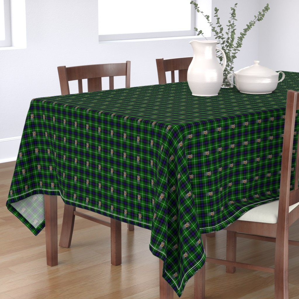 Bantam Rectangular Tablecloth featuring BLUE & GREEN by barbyyy
