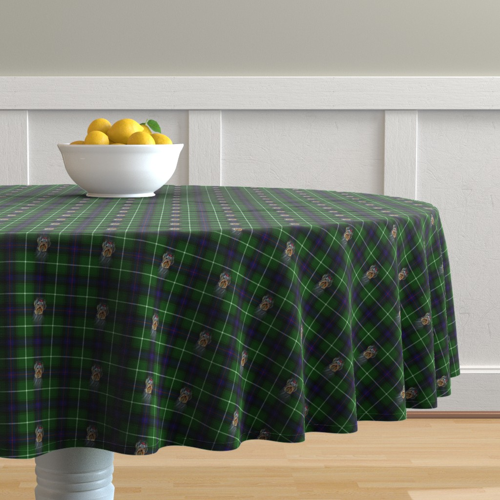 Malay Round Tablecloth featuring BLUE & GREEN by barbyyy