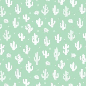 Raw western indian summer cactus garden mint