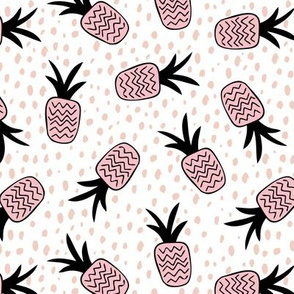 Summer pineapples memphis style pop triangle pink girls