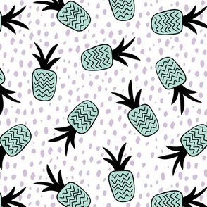 Summer pineapples memphis style pop triangle garden mint