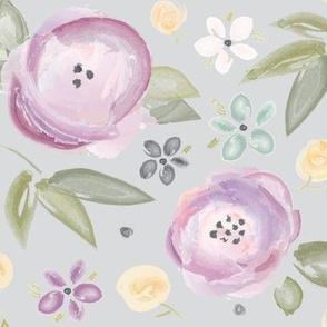 Watercolor Floral in Lavendar