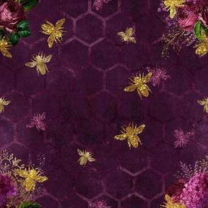 Bees on Purple
