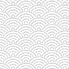 Japanese Seigaija white & gray