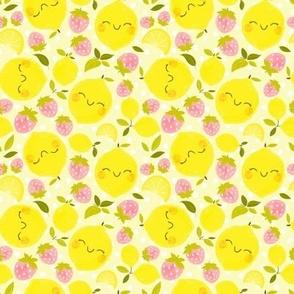 Strawberry Lemon Pattern - Smaller Print