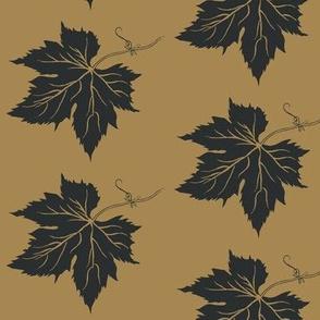 Charcoal Hop Leaf on Mustard