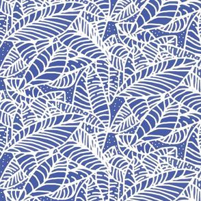 Indigo Batik Leaves 450