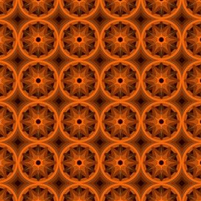 Flower geometric abstraction in brown tones