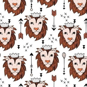 Sweet king of the jungle animals lion king and arrows orange