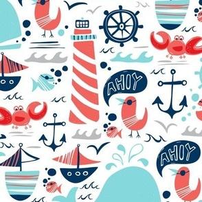 Ahoy Matey - Summer Nautical