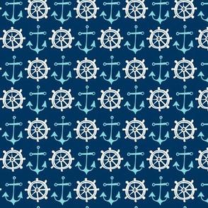 Anchors Away - Nautical Navy Blue
