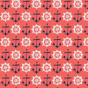 Anchors Away - Nautical Red & Blue