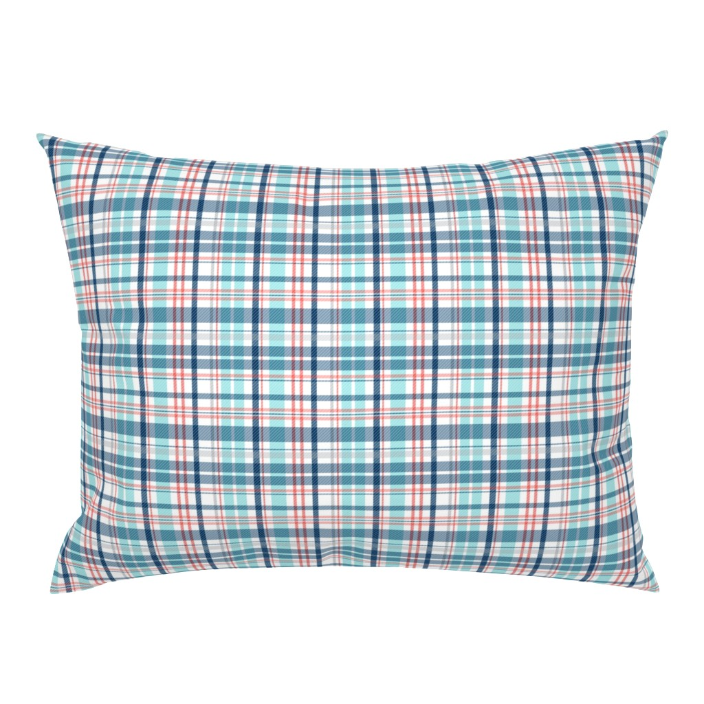Campine Pillow Sham featuring Deck Chair Plaid - Nautical by heatherdutton