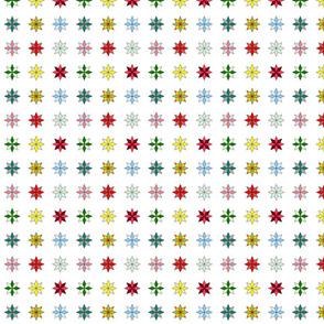 Mini stars on white